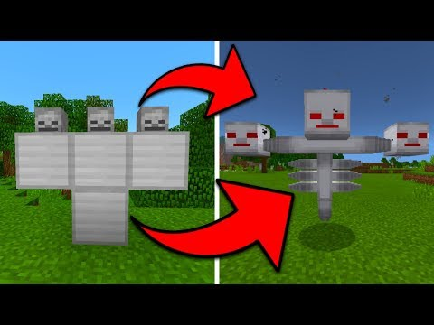 How to Spawn a IRON Wither Boss in Minecraft Pocket Edition (Addon)