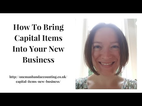 How To Bring Capital Items Into Your New Business