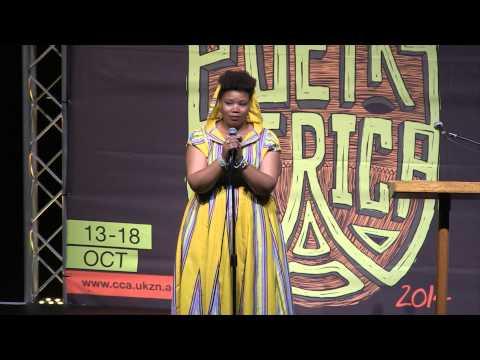 Vangile Gantsho at POETRY AFRICA 2014