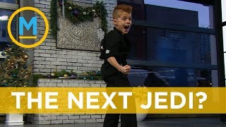 Download This 8-year-old could be a real life Jedi Video