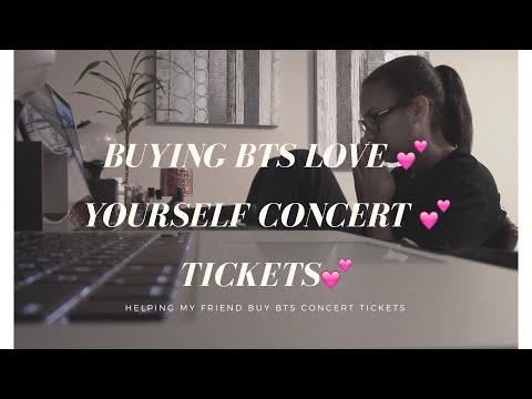 BUYING BTS LOVE YOURSELF CONCERT TICKETS!!!!