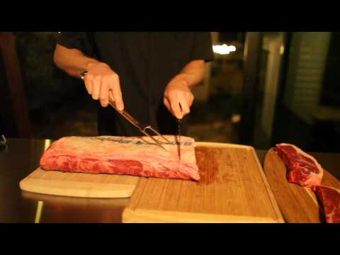 How to cut NY Steaks from Naturally Stoked Striploin