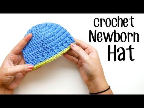 Crochet Parker Newborn Hat Left Handed