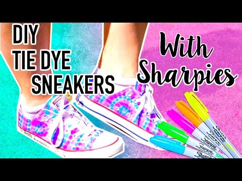 DIY Tie Dye Shoes with Sharpies!!