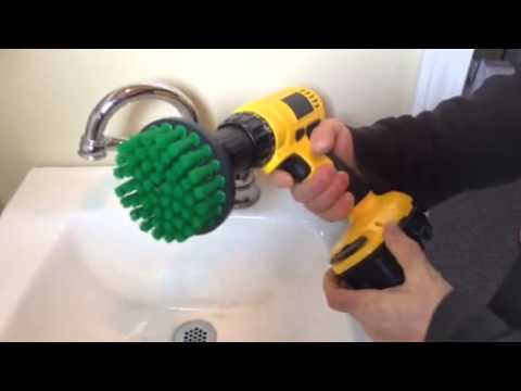 Scrub Brush for Sink and Bathroom  - Tile Scrubbing Rotary Scrub Bit
