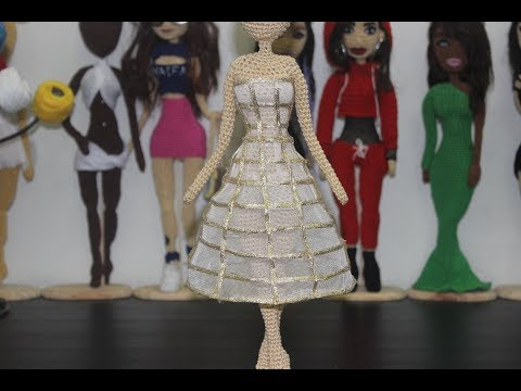 How To - Cage Dress (Doll Size) - hoop skirt