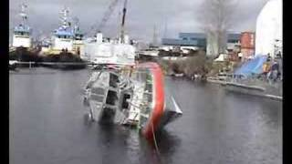 Coast Guard Response Boat Self-Righting Test