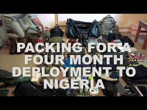 Packing for a British Army deployment to Nigeria