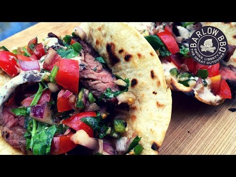 Carne Asada Street Tacos Recipe with Jalapeno Salsa on the Weber Kettle Grill | Barlow BBQ