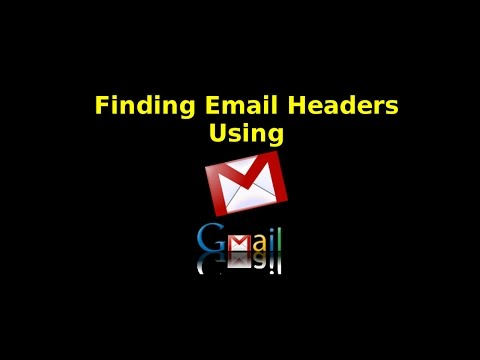 Finding Email Headers using Gmail