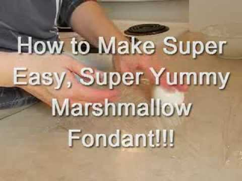 Easy Fondant Recipe | Marshmallow Fondant | How To Make Marshmallow Fondant | Easy Homemade Fondant