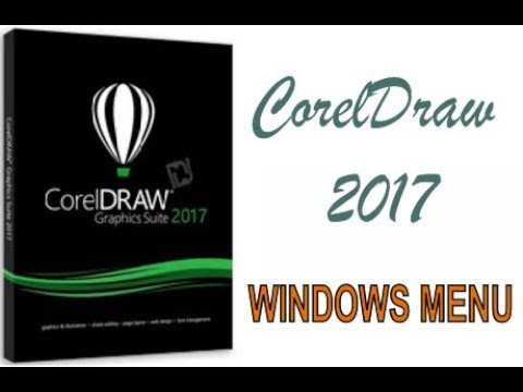 COREL DRAW 2017 USING WINDOWS MENU HINDI URDU PART 52