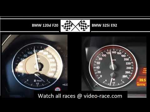 BMW 120d F20 VS. BMW 325i E92 - Acceleration 0-100km/h