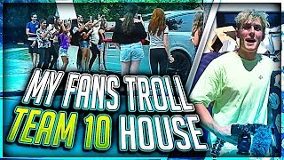 Jake Paul Trolled By My Fans at Team 10 House