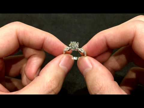 Pave Double Band Twist Diamond Engagement Ring