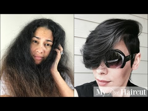 Long Damaged Hair to My New Pixie Hair Cut - Short Spring/Summer Pixie Layered Hair Style