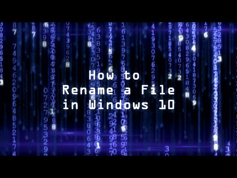 How to Rename a File in Windows 10