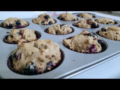 Aquafaba Recipes :  Blueberry Muffins (From start to finish)