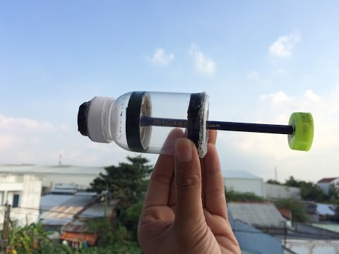 How to Make Air Pump Using Plastic Bottle - Easy Way - Tutorial