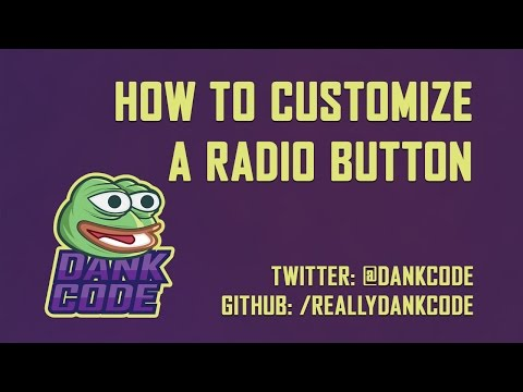 How To Customize A Radio Button - HTML & CSS Only!