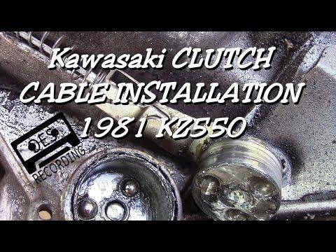 Clutch Cable Install KZ550 Kawasaki 1981 motorcycle