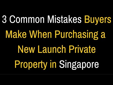 😅3 Common Mistakes Buyers Make when Purchasing a Private Property in Singapore