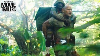 """JUMANJI 2: Welcome to The Jungle   Wild animals attack """"The Rock"""" in new trailer"""