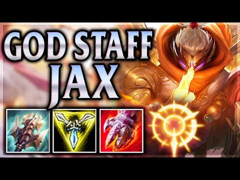 ALMIGHTY GRANDMASTER HAS GOT A REAL WEAPON!? God Staff Jax Jungle - League of Legends Commentary