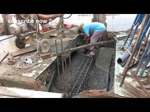 handcrafted construction technology combined with concrete mixer - how to do nail building
