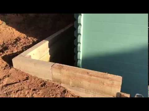 Sleeper Retainer Wall installed by Installers and Fitters