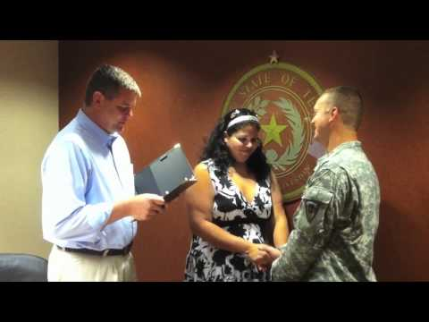 Quickie wedding for Army couple in Galveston County