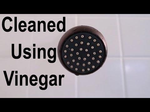 How To Clean A Shower Head Using Distilled White Vinegar