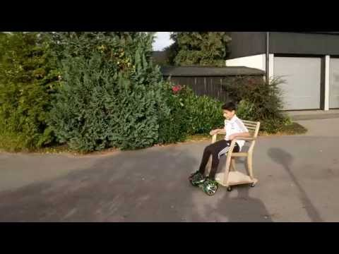Hoverboard chair DIY