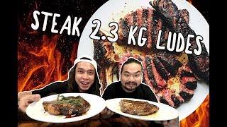 GILA! 2,3 KG Daging Ludes! 1kg Porterhouse + 1kg ribeye + 300gr Smoked Brisket ft. Nex Carlos