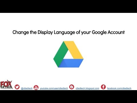 Change Display Language of a Google Accoun