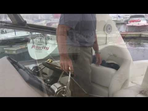 Boat Docking Sea Ray With Twins