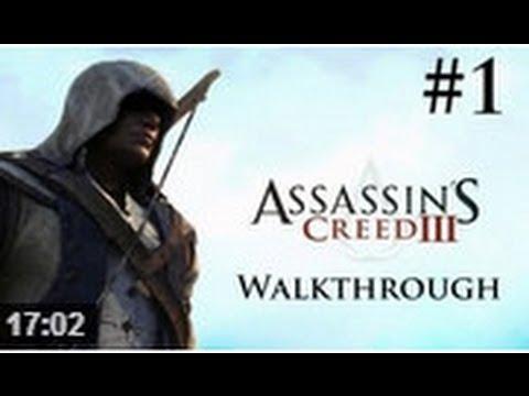 Assasin's Creed 3 Walkthrough Sequence 1(Part1)  HD