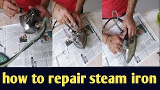 Gravity feed steam iron , automatic iron repair