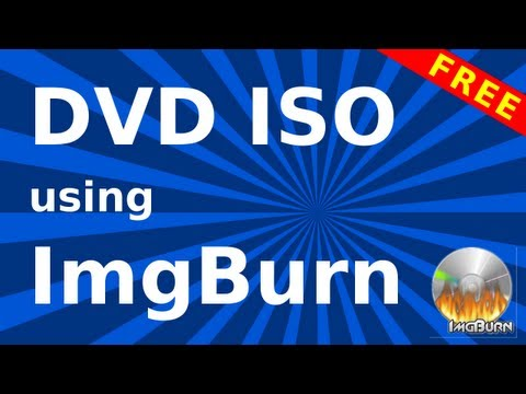 How to create an ISO image file from a DVD disc using ImgBurn