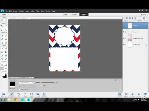 How to make an Invitation using Photoshop Elements 11