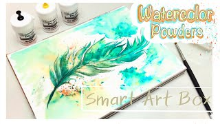 Brusho Crystal Colours- Smart Art Box- Unboxing And Demo
