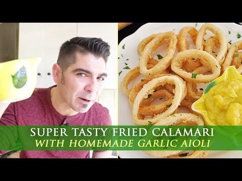Fried Calamari with Homemade Garlic Aioli - Spanish Tapas