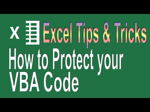 How to protect your VBA Code | Excel VBA Tips n Tricks # 5