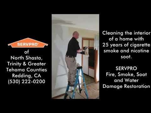 SERVPRO - Home Cigarette Smoke, Soot & Nicotine Damage Clean Up