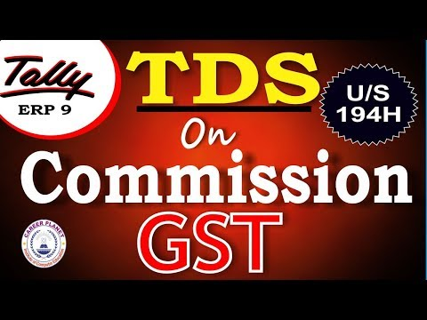 TDS on commission under GST in Tally ERP 9 Part-123|Learn Tally GST Accounting with TDS