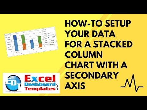 How-to Setup Your Excel Data for a Stacked Column Chart with a Secondary Axis