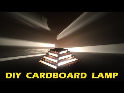 HOW TO MAKE A LAMP - DIY CARDBOARD LAMP | DIY HOME DECOR