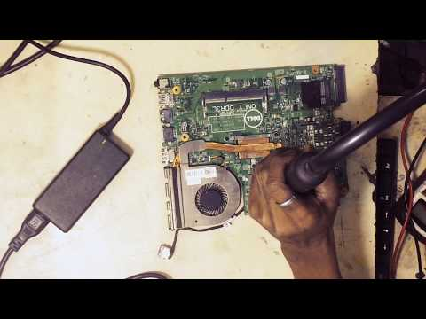 Dell laptop motherboard power problem