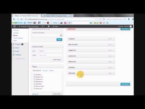 Change the Order of WordPress Tabs with Custom Menus