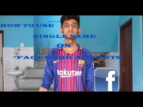 HOW TO USE SINGLE NAME ON FACEBOOK ACCOUNTS 100%WORKING | HD |